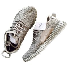 Cloth trainers YEEZY (€625) ❤ liked on Polyvore featuring shoes, sneakers, grey sneakers, gray sneakers, gray shoes and grey shoes