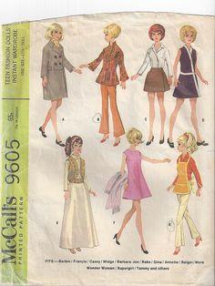 Mod Barbie Pattern McCalls 9605   Flickr - Photo Sharing!