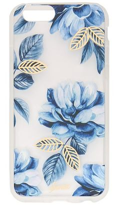 Floral blue IPhone case