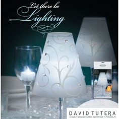 David Tutera Wedding Collection - Swirl Print Vellum Wrap Shades