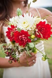 #wedding #red #rustic
