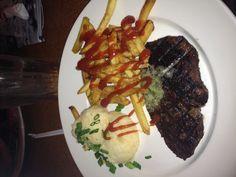 TGI Fridays yum. 10ounce steak gone!