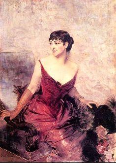 Giovanni Boldini 'Ritratto della Contessa de Rasty seduta in poltrona'