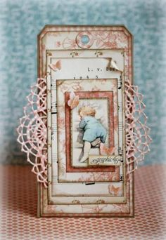 Absolutely stunning tag by Romy with our Little Darlings collection! Shared on our Ning!