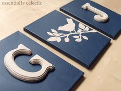 Essentially Eclectic | A Creative Place for Wherever Life Leads: DIY Initial Wall Art