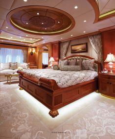 Not your average master bedroom - master bedroom on a yacht.