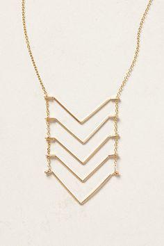Chevron Ladder Necklace - anthropologie.com