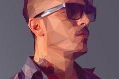 Создание поли-портрета в Illustrator и Photoshop «
