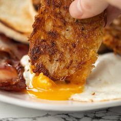 These homemade hash brown patties are super crispy and insanely delicious. The perfect accompaniment to any breakfast style sandwich! #hashbrowns #hashbrown #breakfast #potato | www.somethingaboutsandwiches.com Hash Brown Patties, Hashbrown Breakfast, Sandwich Sides, Food Inspiration, Sandwiches, Pork, Potatoes, Homemade, Easy