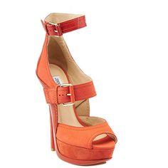 Pre-owned Jimmy Choo Letita Orange Leather & Suede Heels (4 235 ZAR) ❤ liked on Polyvore