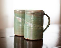 Beer Mugs by Jason Wolff Pottery. American Made. See the designer's work at the 2015 American Made Show, Washington DC. January 16-19, 2015. americanmadeshow.com #beermug, #mug, #ceramic, #pottery, #americanmade