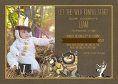 Where the Wild Things Are ultimate birthday guide-invitations!