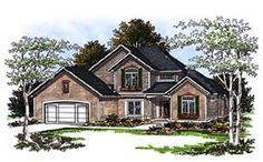 Elevation of European   House Plan 93177