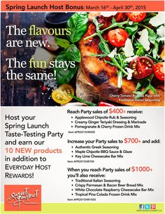 #sunsetgourmet Host Deals, party anywhere across Canada with me!  #Party #Free