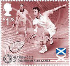 Glasgow 2014 Commonwealth Games Commemorative stamp. #SquashStamps