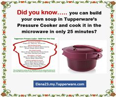 Home And Appliances Tupperware Pressure Cooker Recipes, Microwave Pressure Cooker, Tupperware Recipes, Microwave Recipes, Pressure Cooking, Cooking Recipes, Tupperware Consultant, Sticky Date Pudding, Recipe T
