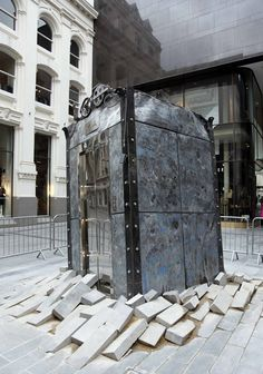 The Lift, Oded Hirsch. Part of the Biennial, Liverpool 2012.