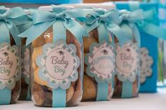 bomboniere in vasetto di vetro Baby Shower Parties, Baby Shower Themes, Baby Boy Shower, Recuerdos Baby Shower Niña, Party Gifts, Party Favors, Baby Shawer, New Baby Products, Diy And Crafts