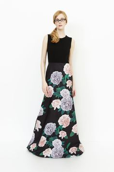 Erin Fetherston floral gown.
