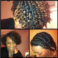 Twist out.. The flat twist always work on my hair.. Gorg!!!!