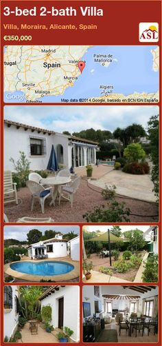 3-bed 2-bath Villa in Villa, Moraira, Alicante, Spain ►€350,000 #PropertyForSaleInSpain