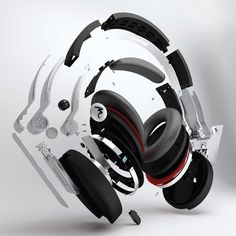 Exploded Focal Spirit One headphones