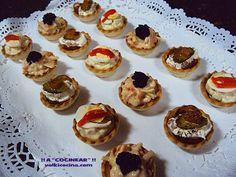 Mini tartaletas de aperitivo