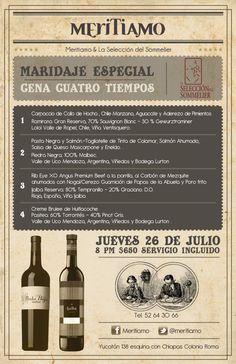 Cena y maridaje en Meritiamo, DF / 26 Julio 2012