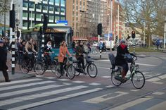 Morning rush hour, Amsterdam