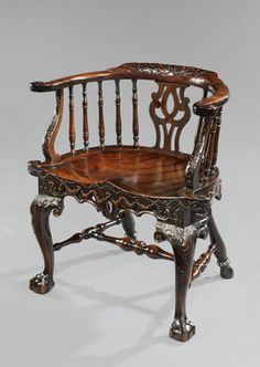 The Spencer Perceval armchair from the Palace of Westminster. English - ca 1750