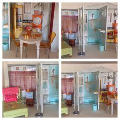 2006 MATTEL BARBIE TOTALLY REAL HOUSE DOLLHOUSE WITH ORIGINAL FURNITURE