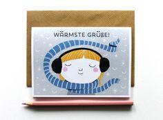 Weihnachten - Weihnachtskarte Winterkarte Grußkarte Klappkarte - ein Designerstück von peachy-treechie bei DaWanda