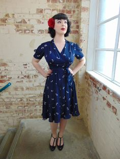 1940s & 50s Vintage Inspired Dresses Designed for lovers of Vintage, Re-Enactment, Pin-Up, Rockabilly .. & anyone who loves stunning authentic vintage designs, & who wants to look & feel great. perfect for Goodwood Revival, Twinwood Festival by Seamstress of Bloomsbury Dresses