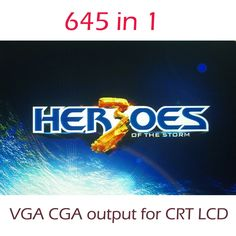 41.65$  Buy here  - 645 in 1 Arcade Games Board Hero of Thestorm 3 Jamma Cabinet Machine Game PCB 645 Multigame Card VGA CGA output for CRT LCD