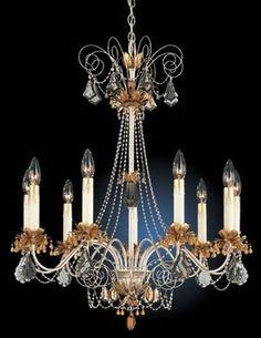 schonbek rooms/images | Crystal Schonbek Topaz Crystal Nine Light Chandelier - traditional ...