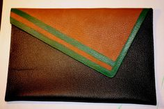 absurdly peculiar: DIY: No-sew Leather Clutch