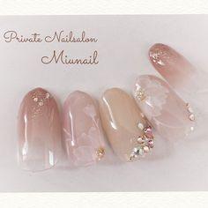 ネイル ネイル in 2020 Pretty Nail Art, Cute Nail Art, Cute Nails, Korean Nail Art, Korean Nails, Bridal Nail Art, Kawaii Nails, Best Acrylic Nails, Luxury Nails