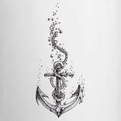 The anchor tattoo we wanted could be something like this but with each other's favourite flower on the end of the rope.