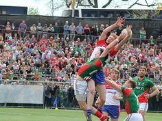 """""""New York needed more prep to out stripe Mayo at Gaelic Park"""" (click into photo for full story) #newyork #nyc #mayo #ireland #GAA #match #game #irishsport"""