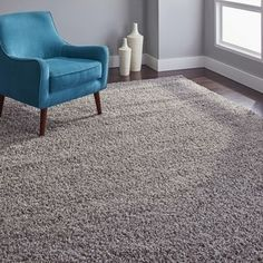 Safavieh Athens Shag Light Grey Area Rug x Rugs In Living Room, Living Room Designs, Room Rugs, Solid Rugs, European House, Grey Flooring, Living Room Remodel, Grey Rugs, Online Home Decor Stores