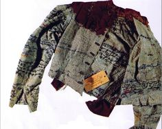 Agnes Richter was a German seamstress held as a patient in an insane asylum during the 1890s. During her time there, she densely embroidered her straitjacket with words, undecipherable phrases and drawings which documented her thoughts and feelings throughout her time there
