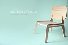 Modèle Déposé is a simple chair made from wood panels CNC machined assembled without glue, screw or whatever.This project is free to edition