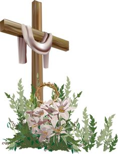 7 Free Religious Easter Clip Art Designs: Easter Cross #2