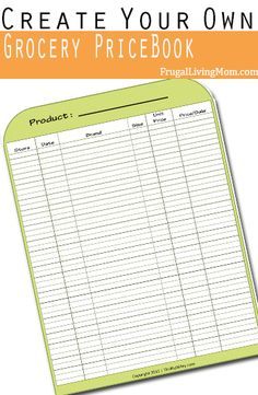 How to Create Your Own Grocery Price Book If you're looking for a way to keep up with sales, pricing and rotation at stores there is an easy way to do all of that… a grocery price book! What is a price book? It's simple. It's a book … Ways To Save Money, Money Tips, Money Saving Tips, Home Management Binder, Money Management, Extreme Couponing, Couponing 101, Price Book, Budgeting Money