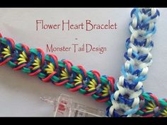 Flower Heart Bracelet - Monster Tail Design - YouTube