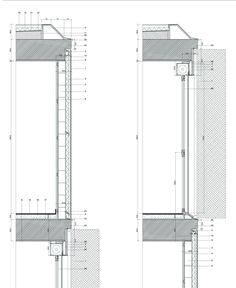 Image 21 of 24 from gallery of 108 VPT Housing in Ardoi / Alfonso Alzugaray. Architecture Drawings, Architecture Details, Detailed Drawings, Technical Drawings, Construction Drawings, Sustainable Design, Townhouse, Facade, Floor Plans