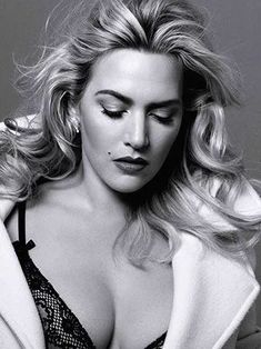 Lovely and Pretty Photos of English Actress and Singer Kate Winslet . Beautiful Celebrities, Beautiful Actresses, Kate Winselt, Kate Winslet Images, Actrices Sexy, Actrices Hollywood, English Actresses, Black And White Portraits, Up Girl