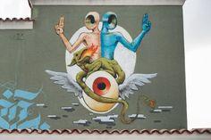 Gods in love for eggsplosion day #streetart #godsinlove