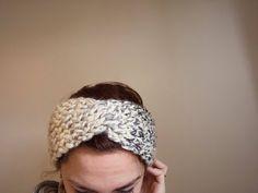 Excited to share the latest addition to my #etsy shop: Boho turban knit, twisted headband, knit ear warmer, messy bun turban, messy bun headband, gift for her, boho headband, handmade turban