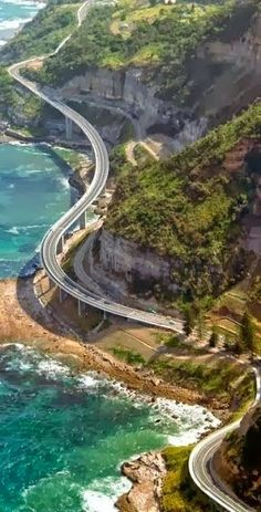 Part of the Sea Cliff Bridge which is part of the Lawrence Gargrave Drive, North of Wollongong NSW, Australia